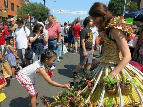 Mobile GArden Dress hits the streets of Toronto